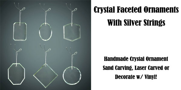 "3"" Crystal Faceted Oval Ornament"